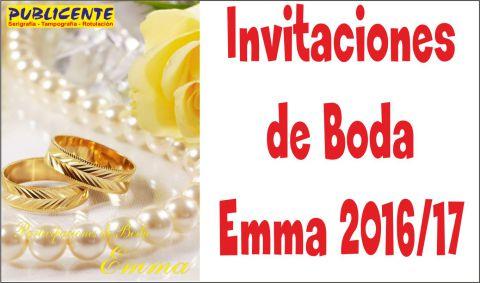 Invitaciones de Boda Emma 2015/2016